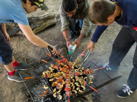 Brochettes au feu de bois